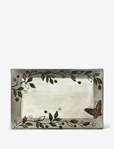 Pfaltzgraff Everyday Rustic Leaves Butterfly Rectangular Platter