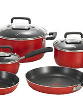 T-fal Signature Total Nonstick 12-pc. Red Cookware Set