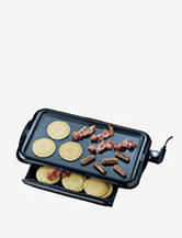 Nostalgia Electrics Nonstick Griddle With Warming Drawer