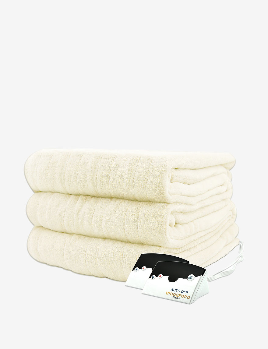 Biddeford Ivory Blankets & Throws