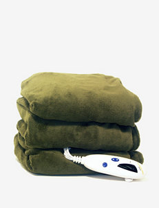 Biddeford Olive Blankets & Throws