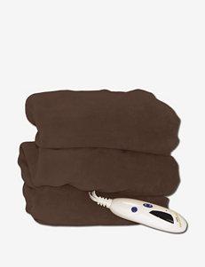 Biddeford Microplush Heated Electric Throw Blanket – Chocolate