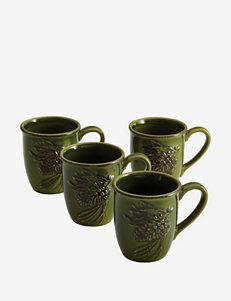 Paula Deen® Southern Pine Dinnerware 4-pc. Green Mug Set