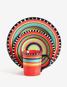 Gibson Pueblo Springs 16-pc. Hand Painted Dinnerware Set