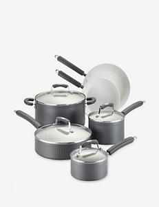 Paula Deen Savannah Collection Hard-Anodized Nonstick 10-pc. Grey Cookware Set