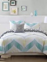 Pem America Fine Lines Chevron Print Mini Comforter Set