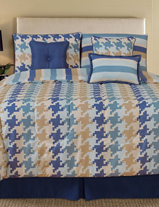 HFI Pixel 7-pc. Reversible Houndstooth Print Comforter Set