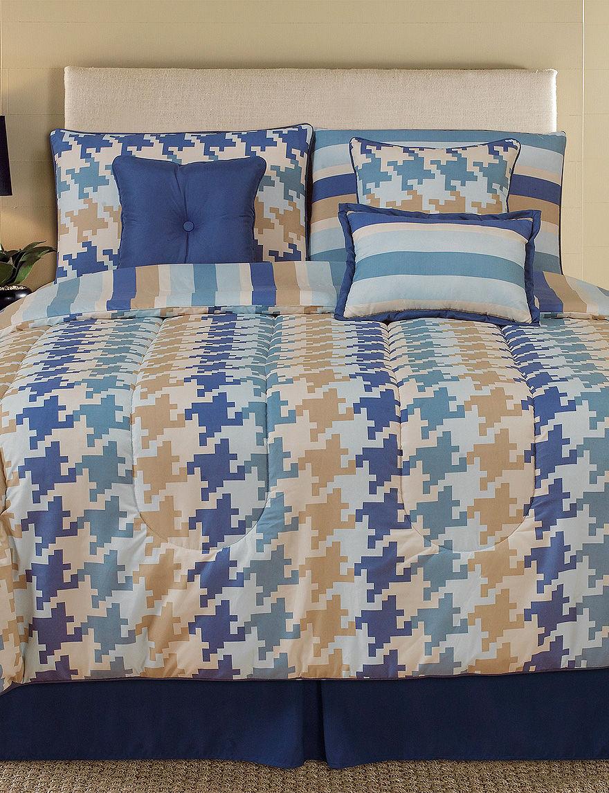 Home Fashions International Navy Multi Comforters & Comforter Sets