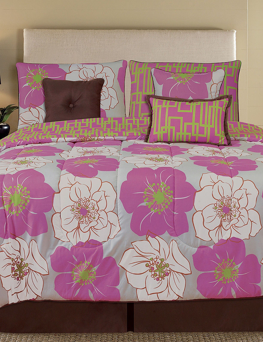 Home Fashions International Pink Multi Comforters & Comforter Sets
