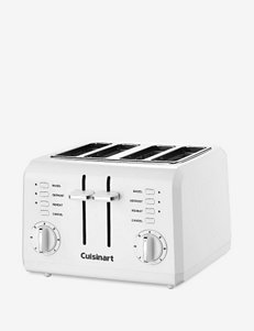 Cuisinart White 4-Slice Compact Plastic Toaster