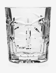 Godinger Palm Crystal Collection Double Old Fashioned Glasses 4-pc. Set
