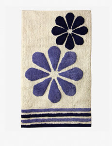 Bacova Guild Fleur Duo Blue Cotton Bath Rug