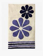 Bacova Guild Fleur Duo Blue Cotton Bath Rug