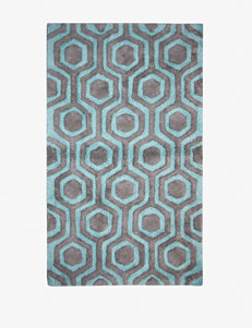 Bacova Guild Strand Aqua & Grey Cotton Bath Rug