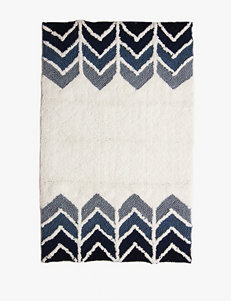 Bacova Guild Ryann White & Indigo Cotton Bath Rug