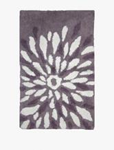 Lacey Mills Purple Flower Power Cotton Bath Rug