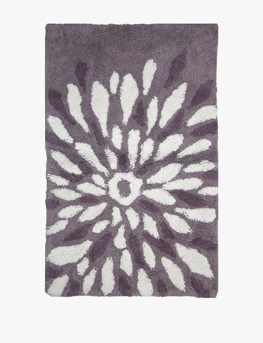 mills purple flower power cotton bath rug stage stores