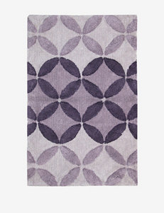Lacey Mills Purple Gradient Circle Cotton Bath Rug