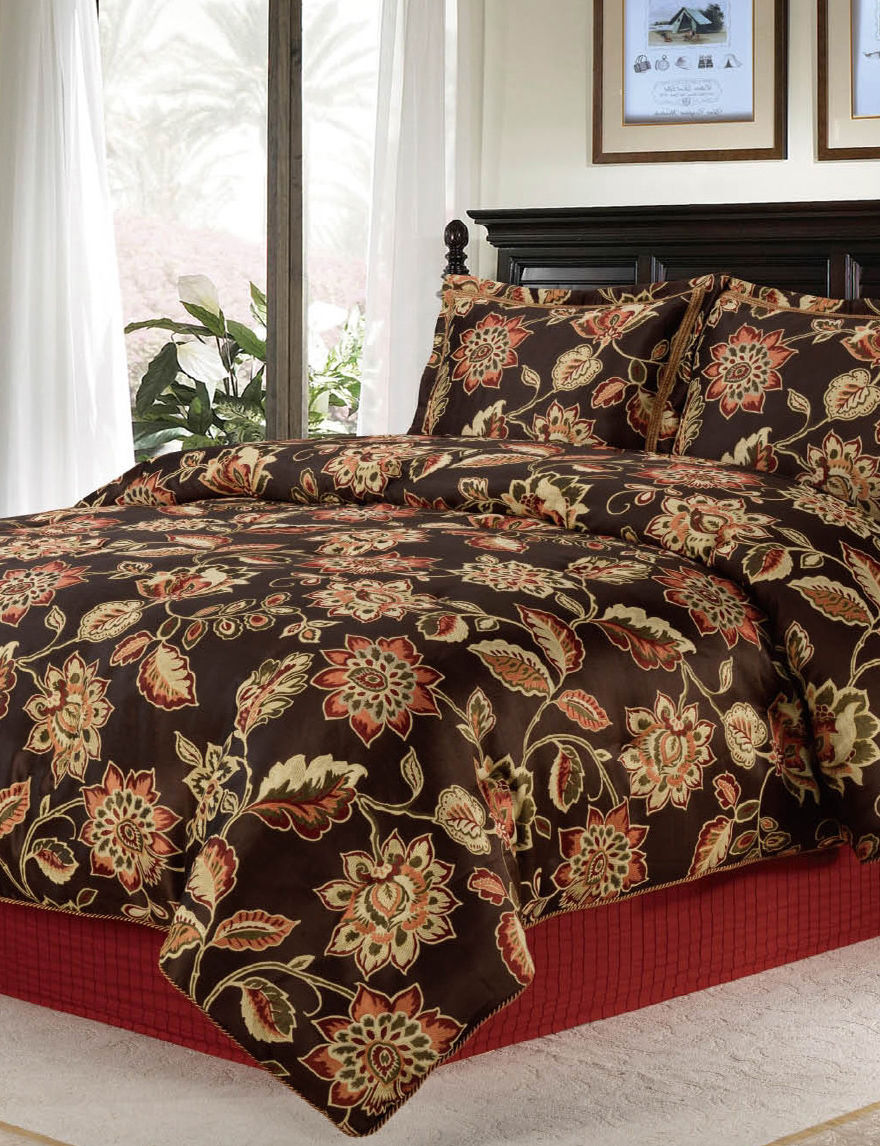 Home Fashions International Brown Multi Comforters & Comforter Sets