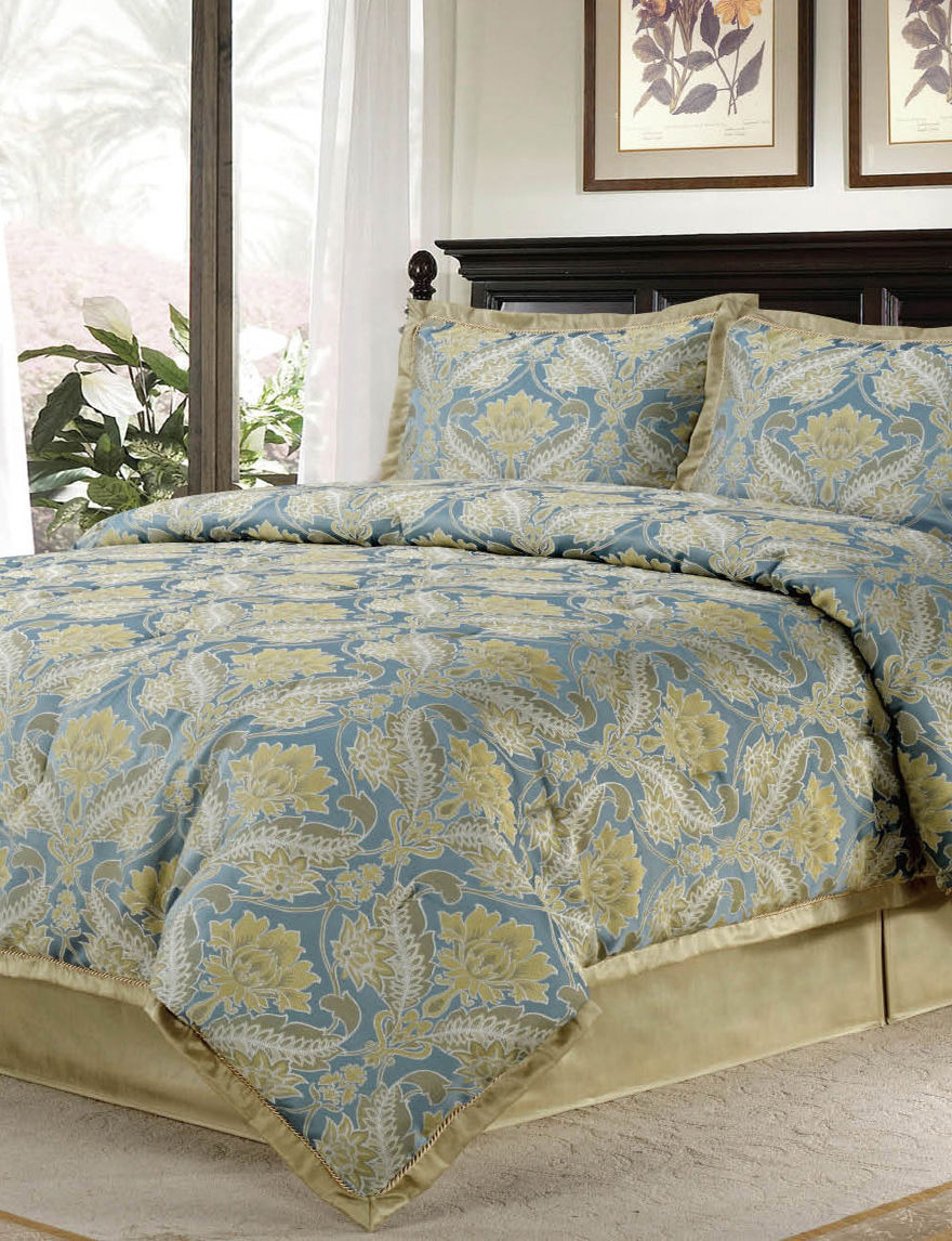 Home Fashions International Blue Multi Comforters & Comforter Sets