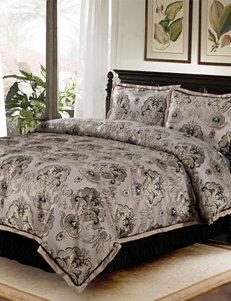 Home Fashions International Taupe / Black Comforters & Comforter Sets