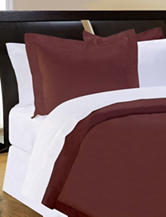 Pointehaven 500 Thread Count Egyptian Cotton 3-pc. Duvet Set – Chocolate