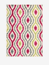 Waverly Aura of Flora Abstract Jazzberry Rug