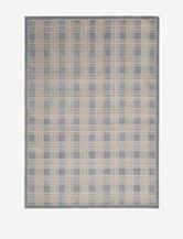 Kathy Ireland Hollywood Shimmer Checkered Blue Rug