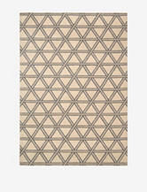 Kathy Ireland Hollywood Shimmer Geometric Bisque Rug