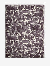 Kathy Ireland Santa Barbara Abstract Dark Violet Rug