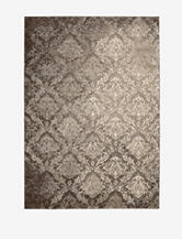 Kathy Ireland Santa Barbara Damask Beige & Brown Rug