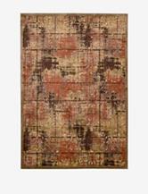 Kathy Ireland Bel Air Abstract Brown Rug