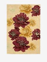 Kathy Ireland Palisades Floral Sand Rug