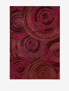 Kathy Ireland Palisades Abstract Plum Rug