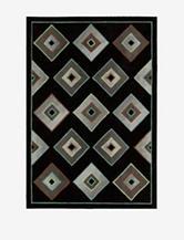 Kathy Ireland Palisades Geometric Black Rug