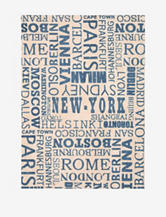 Waverly Sun N' Shade Distressed Blue Cities Rug