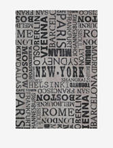 Waverly Sun N' Shade Distressed Graphite Cities Rug