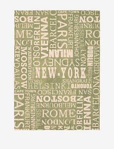 Waverly Sun N' Shade Distressed Wasabi Cities Rug