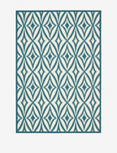 Waverly Sun N' Shade Geometric Azure Rug