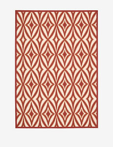 Waverly Sun N' Shade Geometric Campari Rug