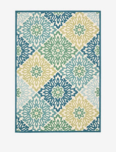 Waverly Sun N' Shade Geometric Marine Rug