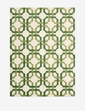 Waverly Artisanal Delight Geometric Leaf Rug