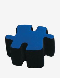 LumiSource Puzzotto Ottman– Blue & Black