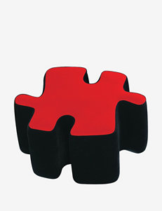LumiSource Puzzotto Ottman– Red & Black
