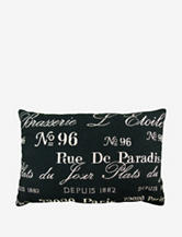 The Vintage House by Park. B. Smith Brasserie Tapestry Large Decorative Pillow – Black