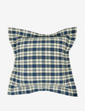 The Vintage House by Park. B. Smith Buffalo Plaid Quilted Square Decorative Pillow – Denim