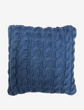 The Vintage House by Park. B. Smith Classic Cable Knit Decorative Pillow – Denim