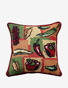 Park B. Smith Hot Peppers Tapestry Decorative Pillow