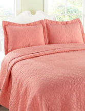 Laura Ashley Coral Circle Quilt Set