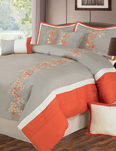 Lavish Home Branches 7-pc. Embroidered Comforter Set
